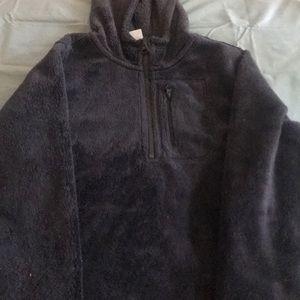 Super Soft half zip fleece with hood